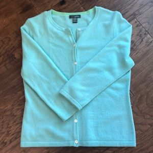Cashmere - Spring Cardigan Sweater Turquoise